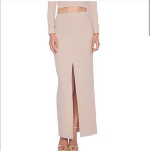 Alice + Olivia Pink Abby Slim Maxi Skirt